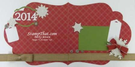 Christmas Scrapbook Layout