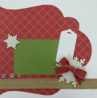 Stampin' Up! Christmas Scrapbook Layout