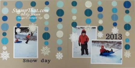 Snowy Day Scrapbook Pages