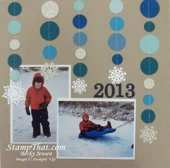 Snowy scrapbooking
