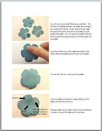 3D paper flower tutorial