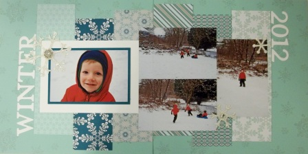 2-page winter scrap layout