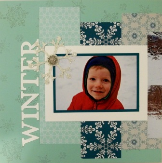 Winter scrapbook page
