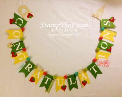 handmade baby shower banner