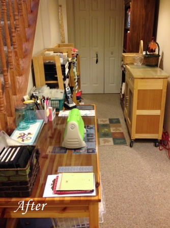 craft room reorganization