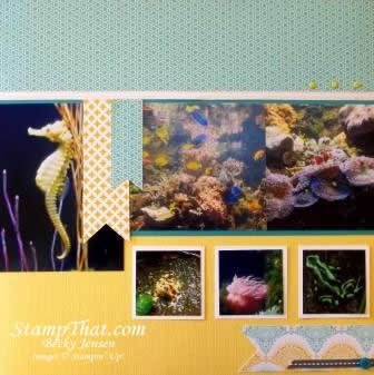 Baltimore Aquarium scrapook pages