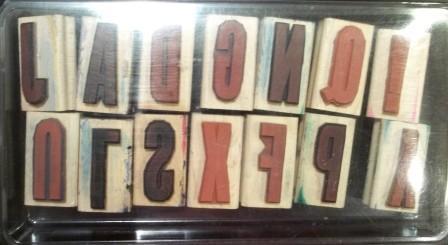 Headline Alphabet - Wood Mount - $18.00