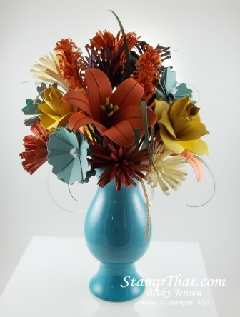 3D paper flower arrangement