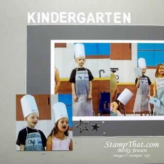 kindergarten scrapbook page