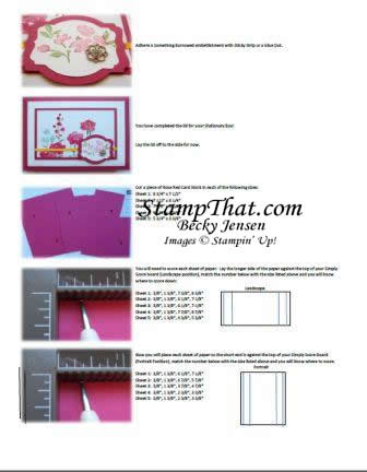 Stampin' Up! Tutorial for sale