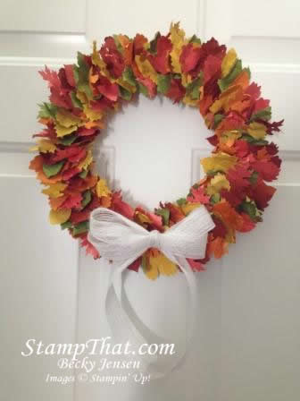 Fall Wreath - Stampin' Up! style