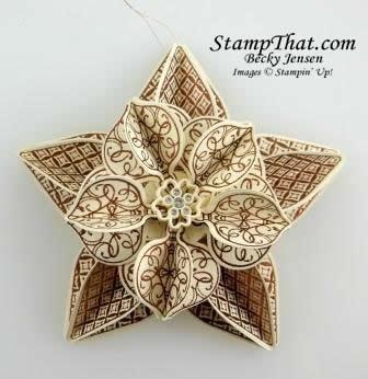 Handmade Christmas Ornament - Stampin' Up!