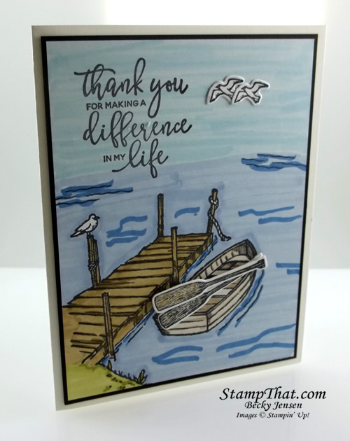 Stampin' Up! By the Dock stamp set