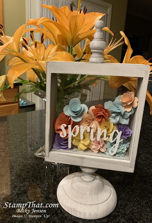 Spring handmade paper flowers