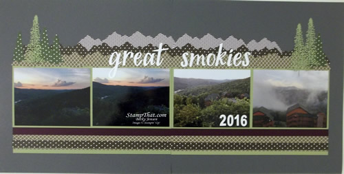 Majestic Mountain Dies from Stampin' Up!