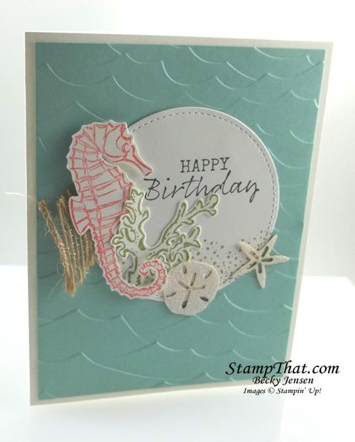 Stampin' Up! Seaside Notions stamp set