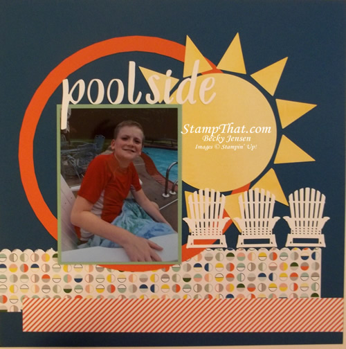 Poolside Scrapbook Page