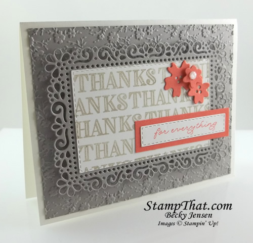 Ornate Thanks stamp set