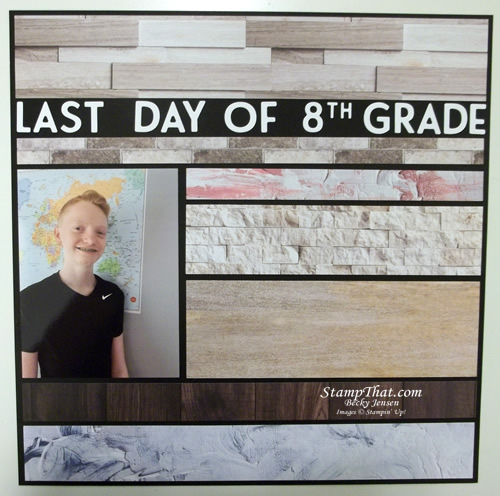Last Day of 8th Grade Scrapbook Page