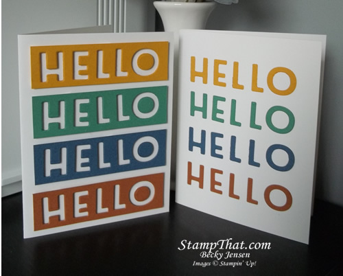 Stampin' Up! Hello