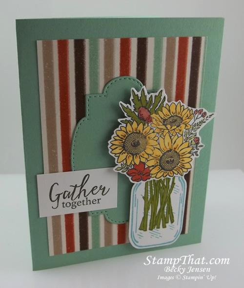 Jar of Flowers stamp set