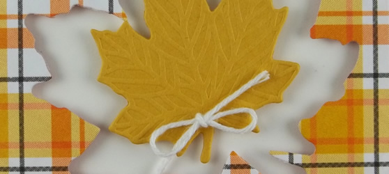 Maple Leaf Handmade Card