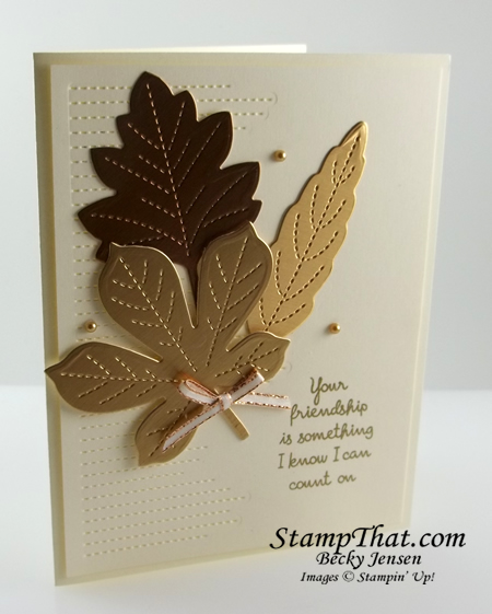Stampin' Up! Stitched Leaves Dies
