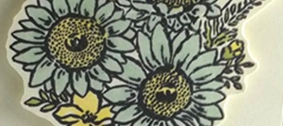 Fancy Fold Jar of Flowers Card