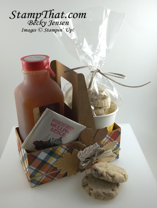 Stampin' Up! Mini Coffee Cup Carrier with Apple Cider