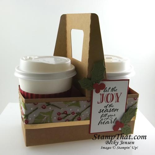 Plush Poinsettia Coffee Carrier