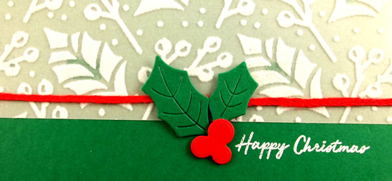 Plush Poinsettia Christmas Card