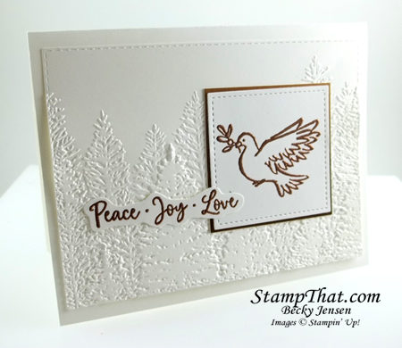 Peace joy Love Handmade Card