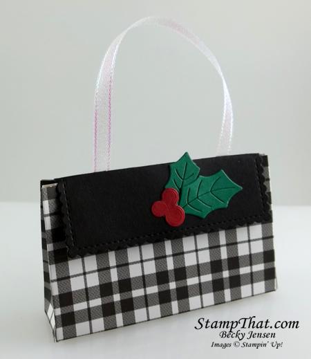 SU! Plaid Tidings gift card holder