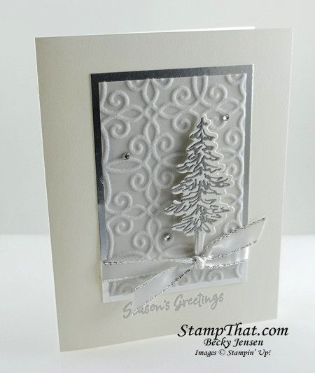 In the Pines handmade card