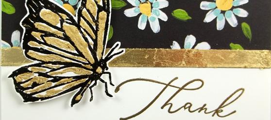 Flower & Field  Butterfly Card
