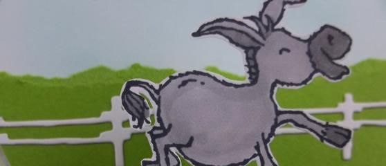 Darling Donkey Fancy Folds Card