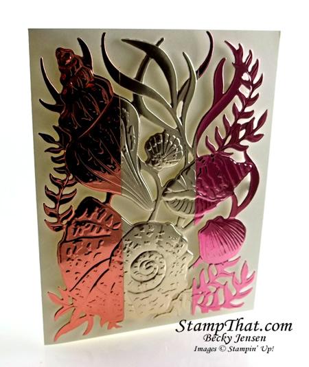 Stampin' Up! Seashell Embossing Folder