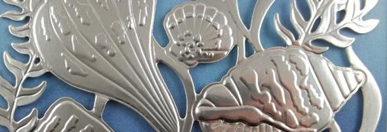 Silver Foil Seashells Card