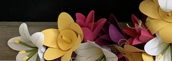 Spring Decor with Handmade Paper Flowers