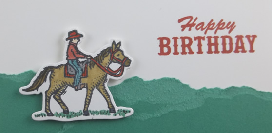 Ride the Range Happy Birthday Card