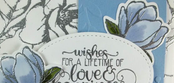 Good Morning Magnolia Wedding Card