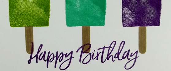 Sweet Ice Cream Birthday Card
