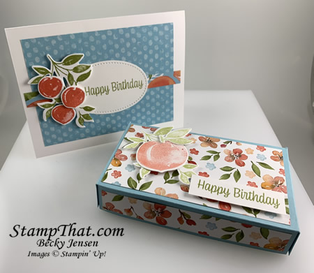 Sweet as a Peach Card and Gift Card Holder
