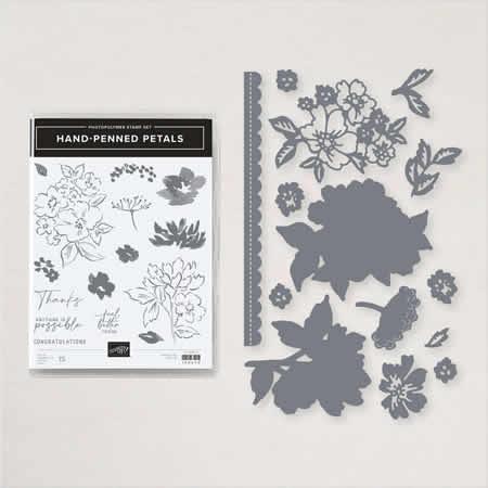 Hand-Penned Petals stam set