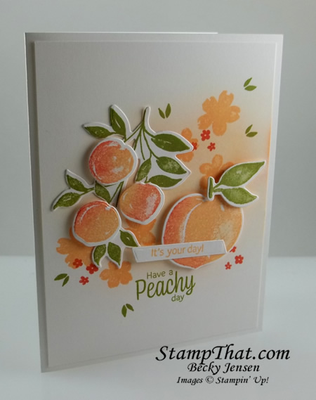 Stampin' Up! Sweet as a Peach stamp set