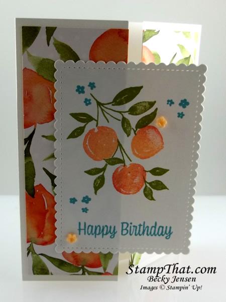 Handmade Peach Card