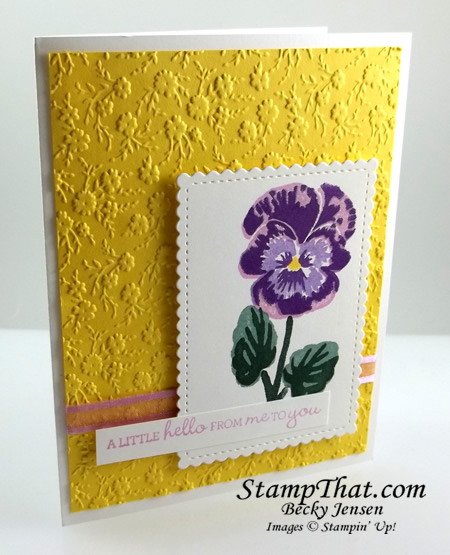 STampin' Up! Pansy Patch stamp set