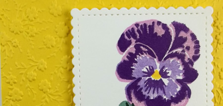 Pansy Patch Stamp of the Month