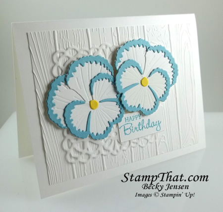 Pansy Dies from Stampin' Up!