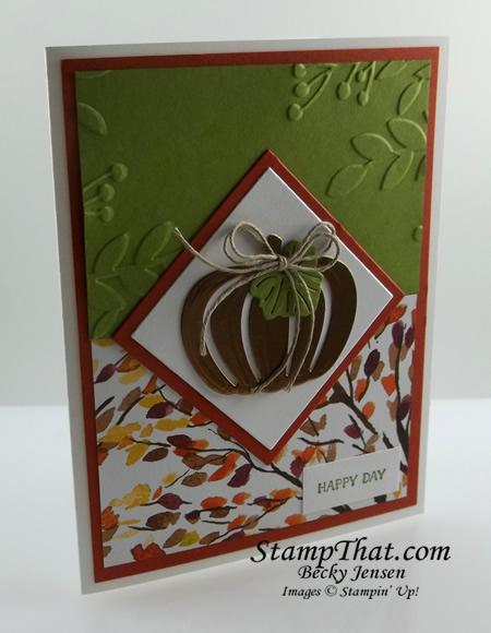 Pumpkin Fall Card